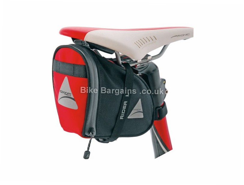 Axiom Rider DLX Cycling Saddle Bag S, L, 1.6 litres, 100g - large is 2 pounds extra!