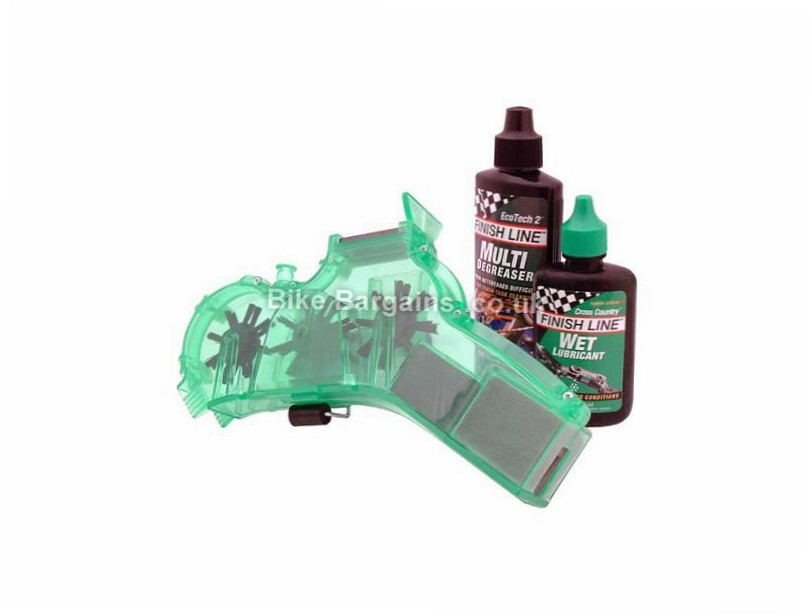 Finish Line Chain Cleaner Kit includes degreaser and lube