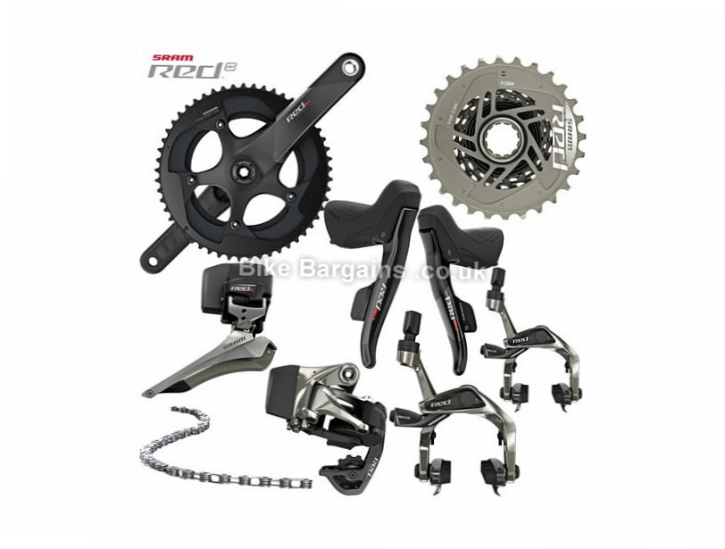SRAM Red eTap Electronic Wireless 11 Speed Road Groupset 11 Speed, Electronic Shifting, Road