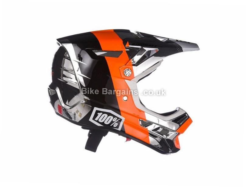 100% Aircraft R8 Downhill MTB Helmet L, Silver, 1.07kg, 25 vents