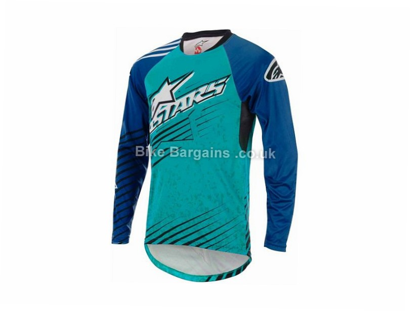 Alpinestars Sight Mercury Long Sleeve Jersey S,M, Green, Grey, Black