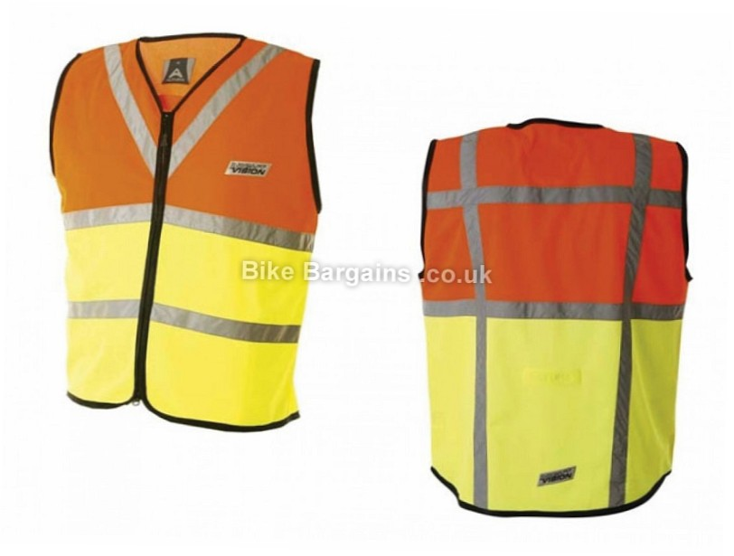 Altura Night Vision Hi-Visibility Safety Vest Gilet  XL - S & L are extra, Orange, Yellow
