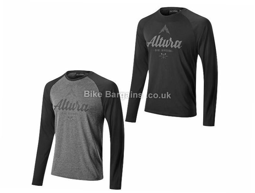 Altura Script Long Sleeve T-Shirt 2017 M, Black, Grey