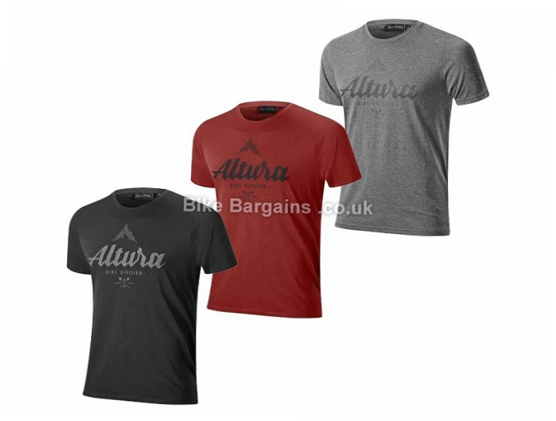 Altura Script Short Sleeve T-Shirt 2017 XL, Black, Blue, Red, Grey