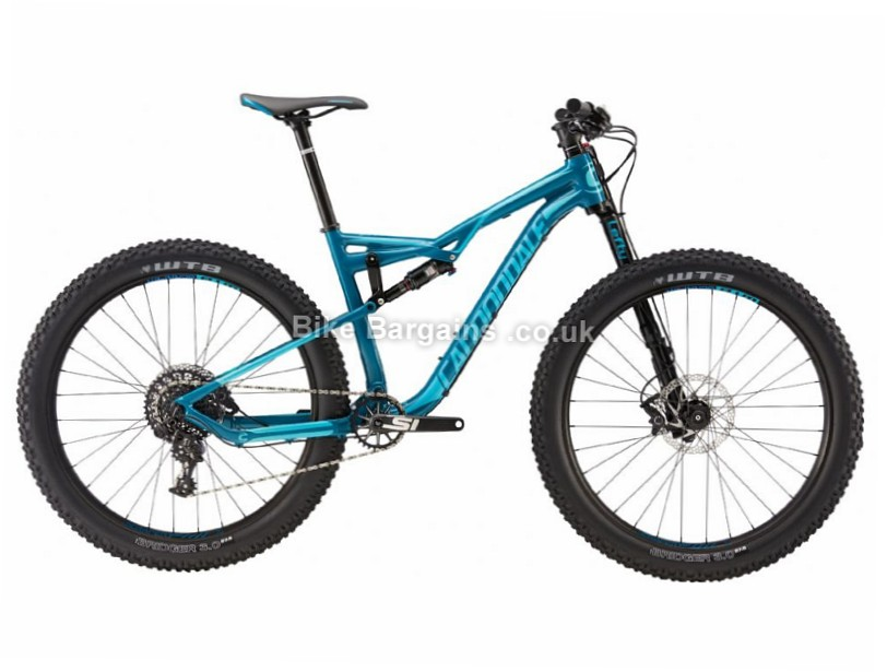 "Cannondale Bad Habit 1 27.5"" Alloy Full Suspension Mountain Bike 2017 27.5"", S, Blue"