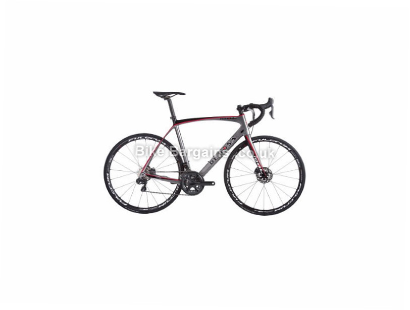 De Rosa Idol Disc Ultegra Di2 Carbon Road Bike 2017 52cm, Black, Red, Silver, Carbon, Disc, 11 speed, 700c