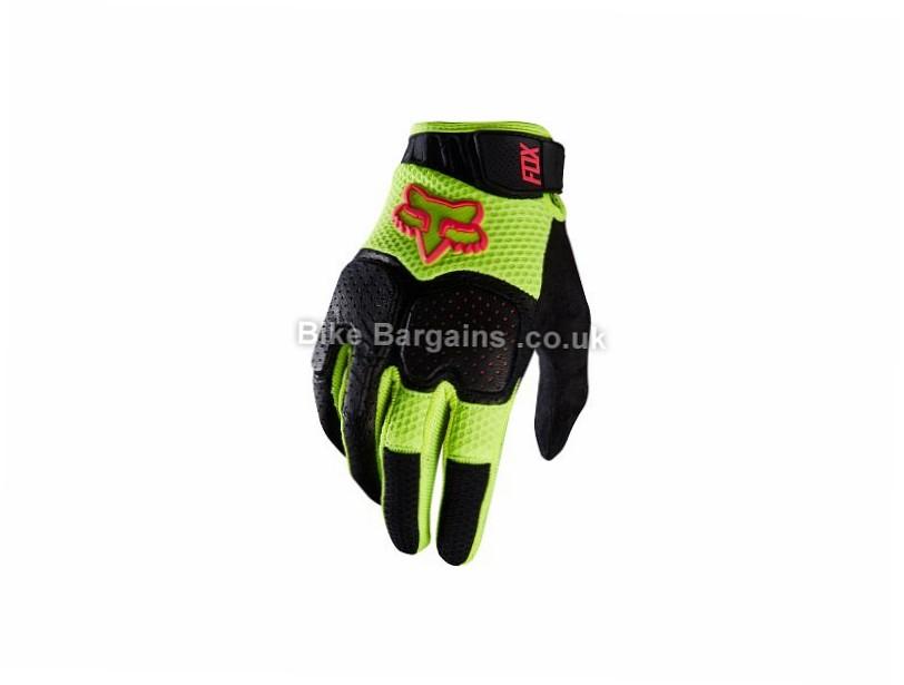Fox Unabomber Full Finger Gloves S, Black, Yellow, Full Finger, Leather