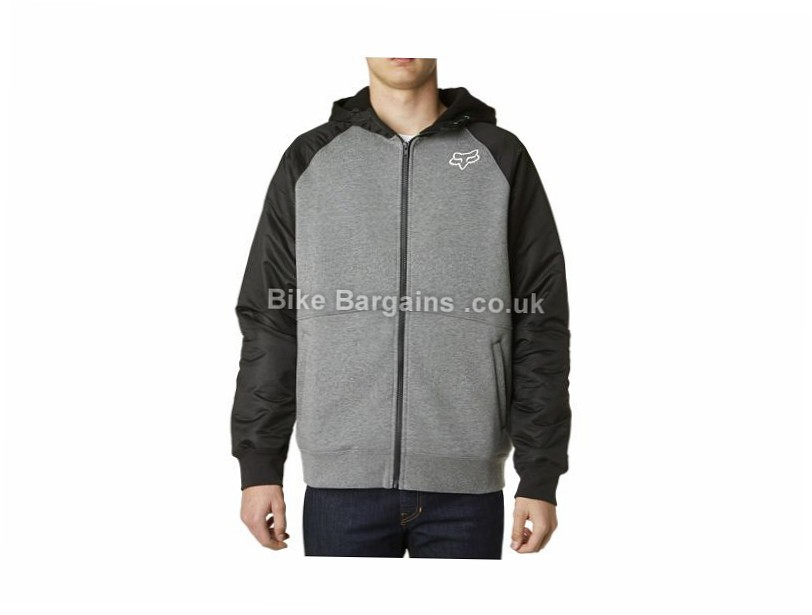 Fox Hemlock Zip Fleece Hoodie S, Grey