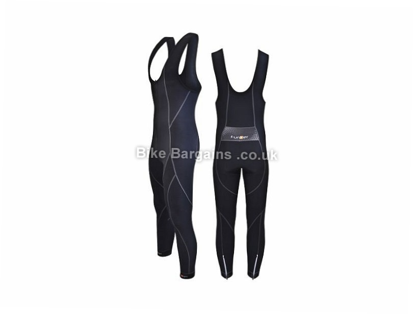 Funkier Active Winter Thermal Microfleece Bib Tights M, L, Black