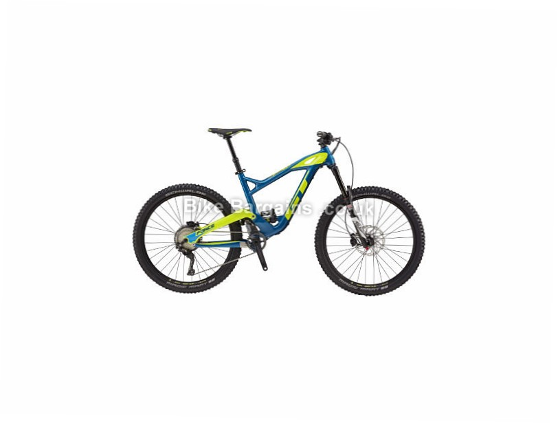GT Force Carbon Expert Mountain Bike 2017 Blue, Yellow, M