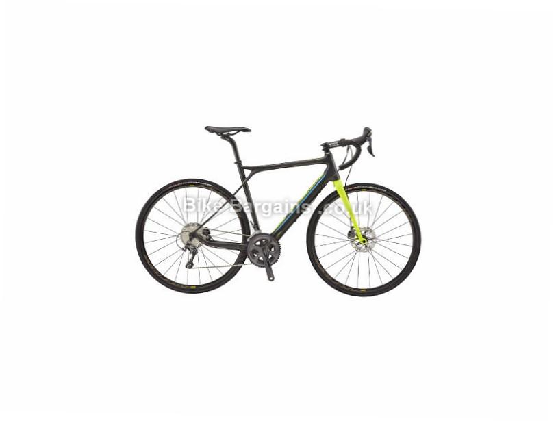 GT Grade Shimano Ultegra Adventure Carbon Disc Road Bike 2017 58cm, Black, Yellow, Carbon, Disc, 11 speed, 700c