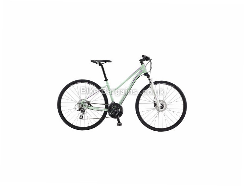 GT Transeo 3.0 Ladies Alloy Hybrid City Bike 2017 Green, M, L