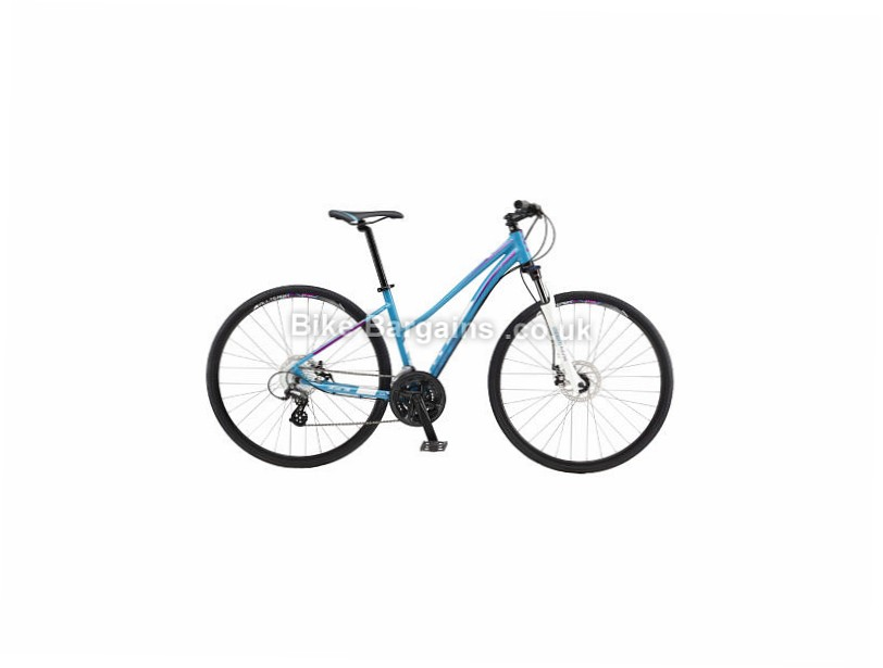 GT Transeo 4.0 Ladies Alloy Hybrid City Bike 2017 Blue, L