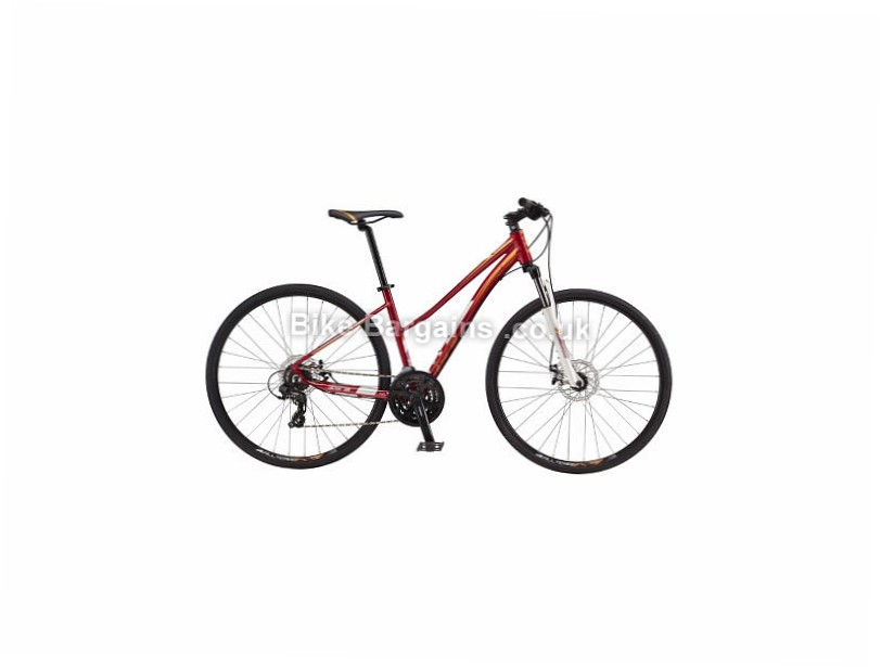 GT Transeo 5.0 Ladies Alloy Hybrid City Bike 2017 Red,S,M,L