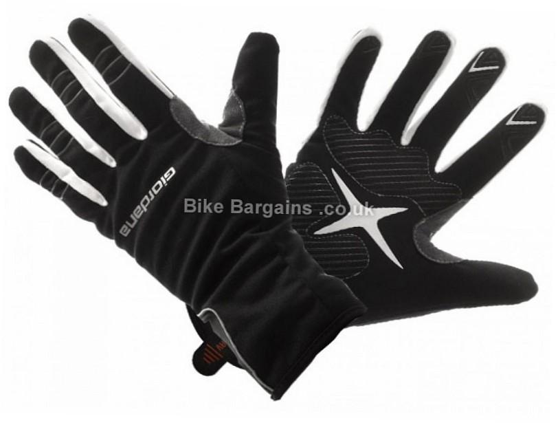 Giordana Nordic Anti-Vento Winter Full Finger Gloves S,M,L,XL, Black, Full Finger