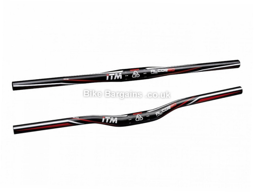 ITM Alcor 80 Alloy MTB Handlebar 620mm, 640mm, 740mm, Semi Rise, Alloy, Black