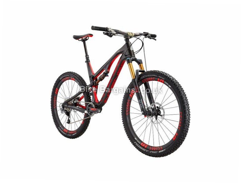 "Intense Spider 275C Factory Build Enduro 27.5"" Carbon Full Suspension Mountain Bike 2017 L, Black, Red, White"