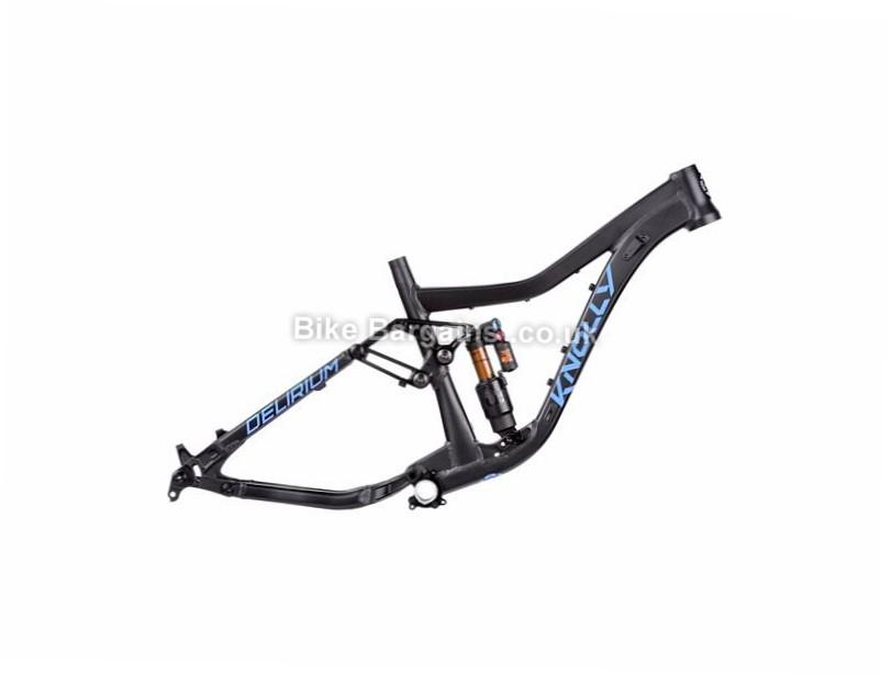 Knolly Delerium Alloy Full Suspension MTB Frame S, Black, Blue