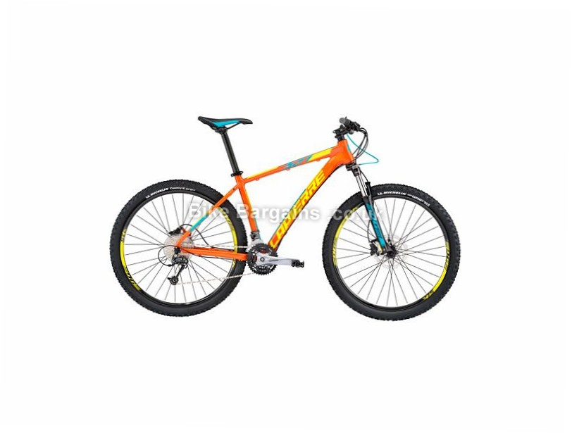 "Lapierre Edge 329 Alloy Hardtail Mountain Bike 2017 29"", 21"", Orange, Yellow, Blue, 27 Speed, Alloy"