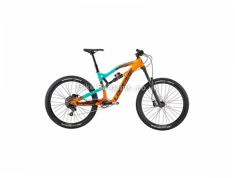 "Lapierre Spicy 327 Alloy Full Suspension Mountain Bike 2017 27.5"", 17"", Orange, Turquoise, 11 Speed, Alloy"