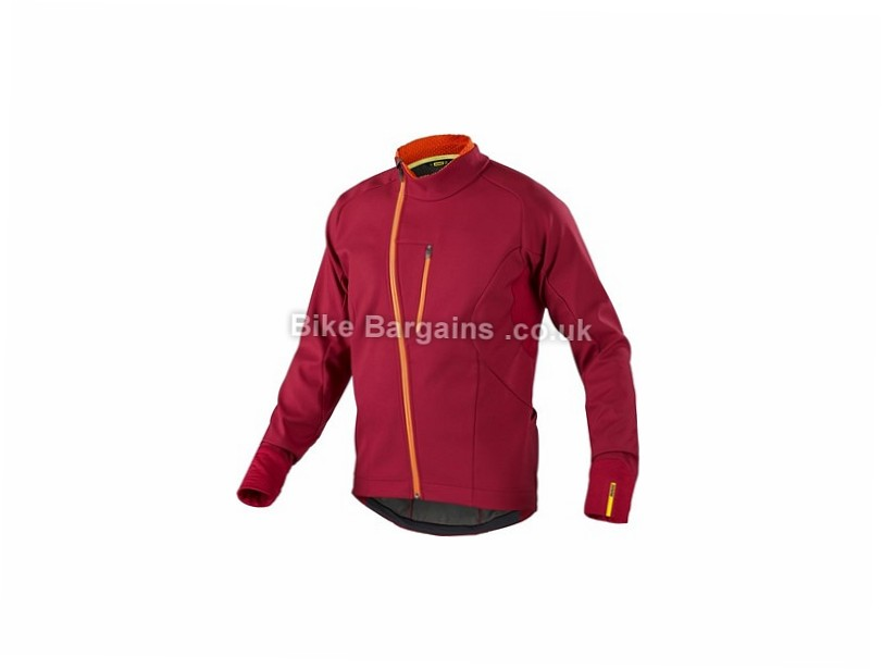 Mavic Aksium Thermo Windproof Jacket S, Orange, Men's, Long Sleeve