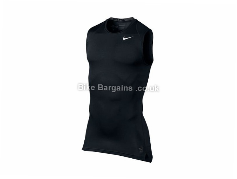 Nike Pro Cool Sleeveless Compression Base Layer Jersey S, Black
