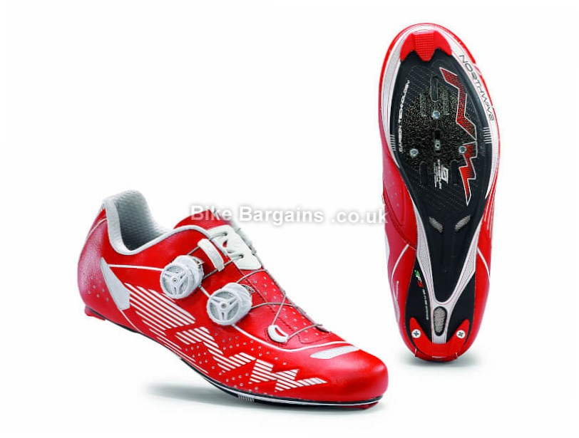 Northwave Evolution Plus Carbon Road Shoes 43, Red, White