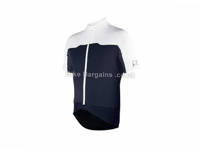 Poc Avip Essential Short Sleeve Jersey M, Blue, White