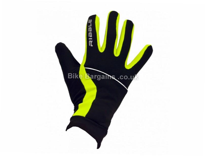 Ribble Hybrid Full Finger Gloves M, Black, Full Finger