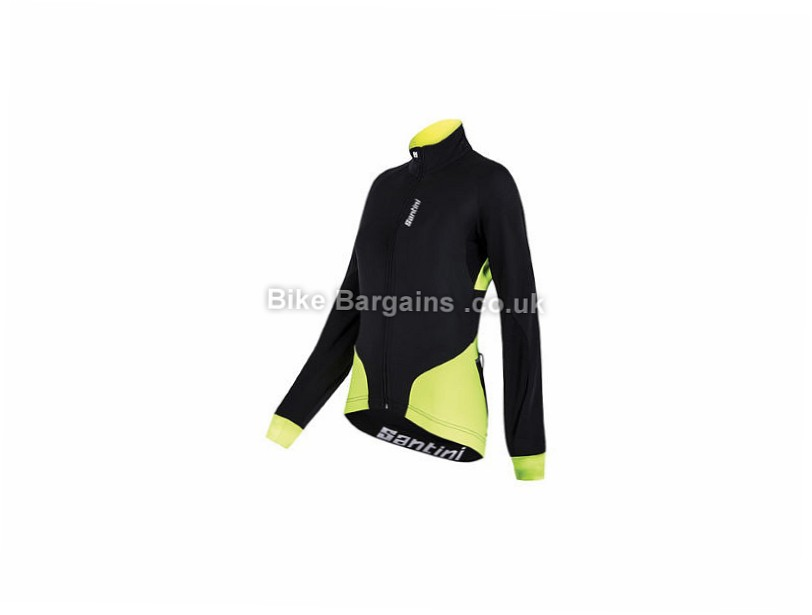 Santini Ladies Beta Windstopper X-Free 210 Jacket Black, Yellow, Red, XL