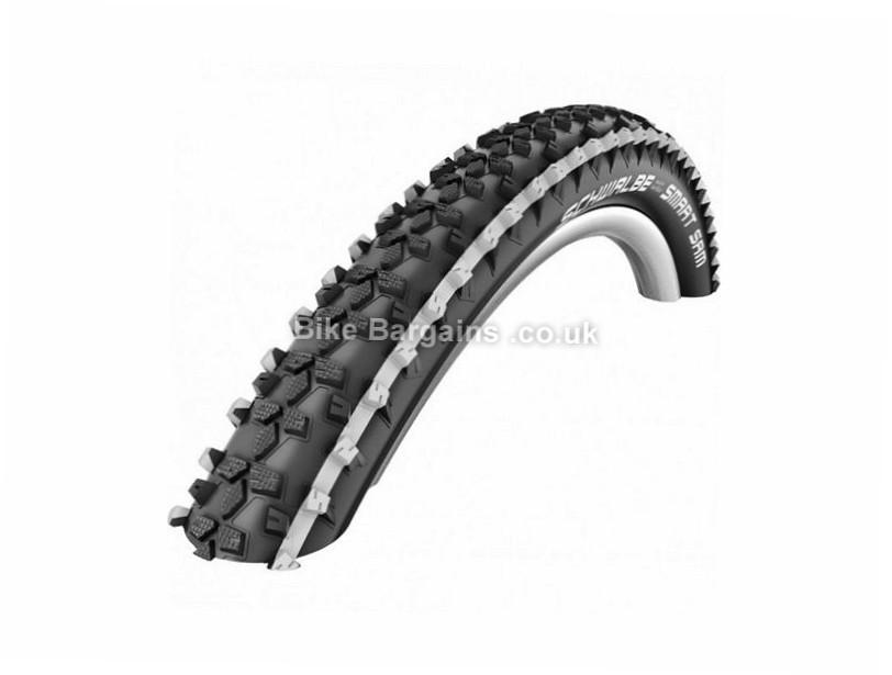 "Schwalbe Smart Sam Kevlar Guard MTB Tyre Wire, 27.5"", 2.25"", Black, White"