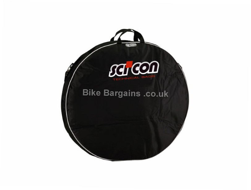 Scicon Double Padded Wheel Bag Holds 2 Wheels, Black