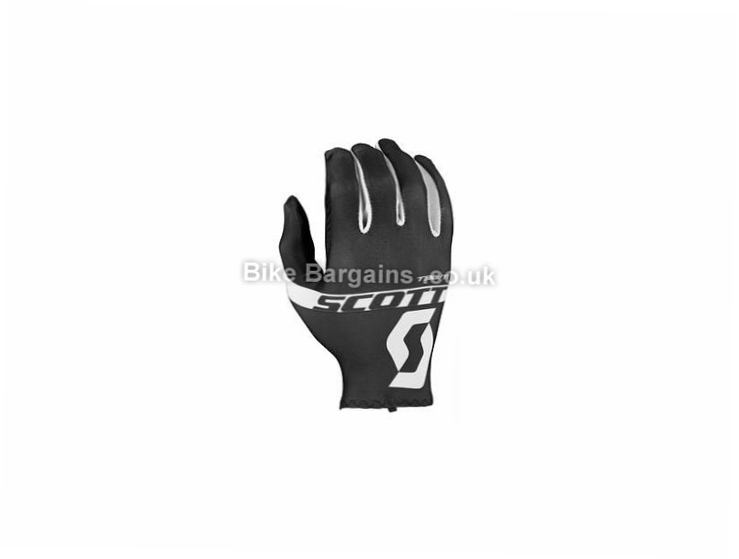 Scott RC Team Full Finger Gloves XL, Black, Full Finger, Nylon, Polyester