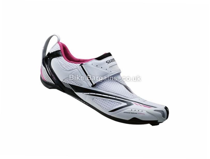 Shimano WT60 Ladies SPD-SL Triathlon Shoes 44, White, Pink