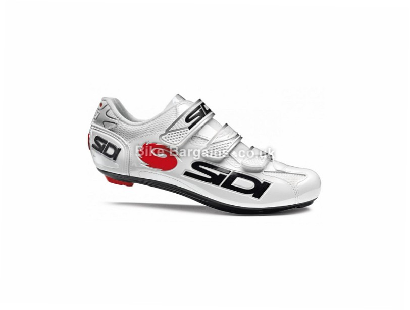 Sidi Logo Road Shoes 50, White, Black