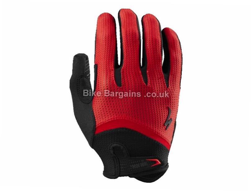 Specialized Body Geometry Gel Wiretap Long Finger Gloves 2017 Black, Red, XL