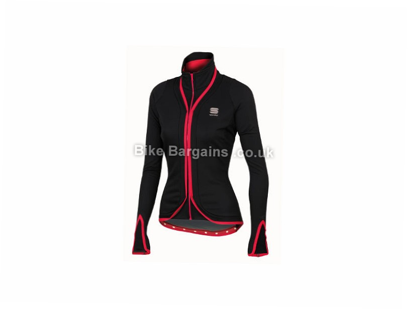 Sportful Ladies Stella SoftShell Jacket XS, Black, Red