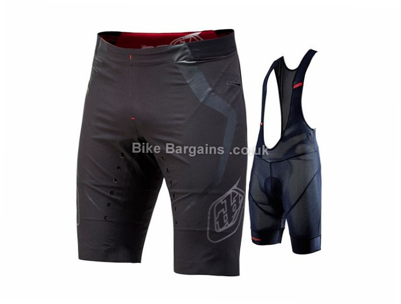 "Troy Lee Designs Ace Baggy Bib Shorts 28"", Black, Green, Grey, Red"
