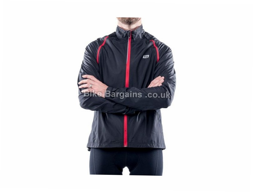 Bellwether Velocity Convertible Jacket 2016 S, Black, Red, Men's, Long Sleeve / Sleeveless