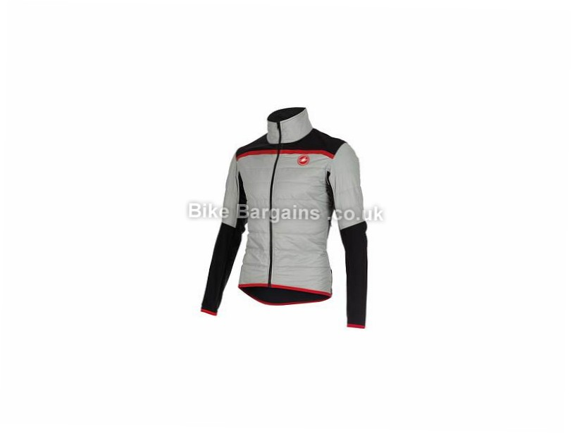 Castelli Cross PreRace Insulator Jacket Grey, Yellow, S
