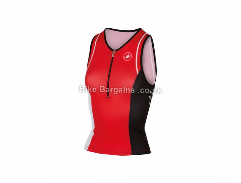 Castelli Ladies Core Triathlon Jersey S, Red, White