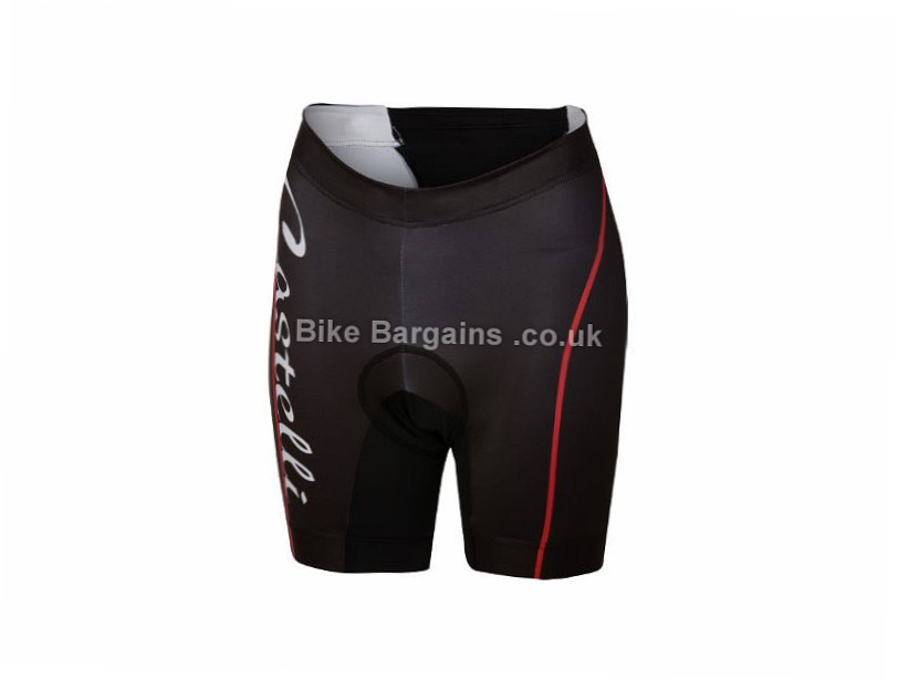 Castelli Ladies Core Triathlon Shorts XS,S,M,L, Black, Red, Grey