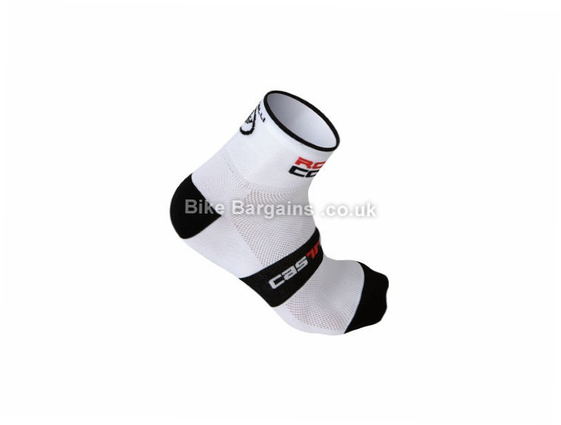 Castelli Rosso Corsa 6 Cycling Socks S, M, L, XL, XXL, White, Black, Red