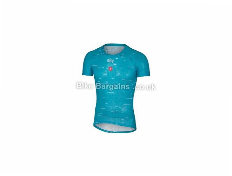 Castelli Team Sky Pro Mesh Short Sleeve Base layer XS, Blue