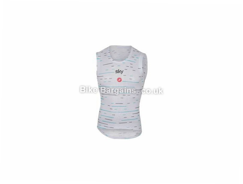 Castelli Team Sky Pro Mesh Sleeveless Base layer S, White