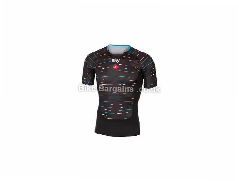 Castelli Team Sky Prosecco Short Sleeve Base layer M, Black