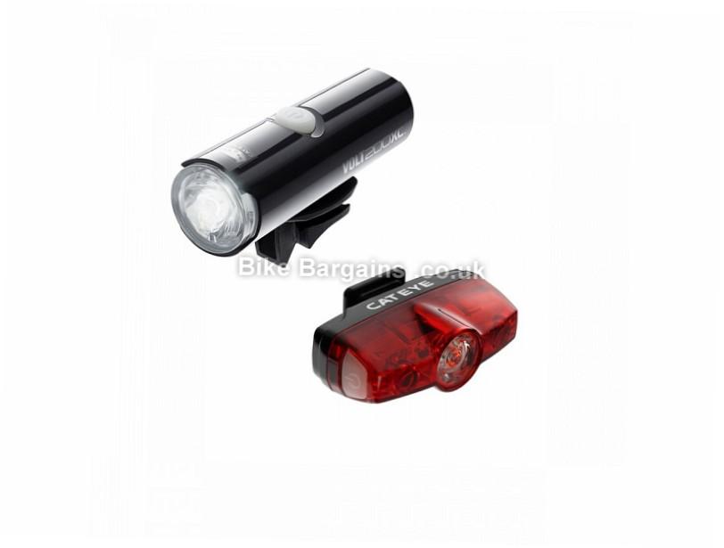 Cateye Volt 200 XC Rapid Mini Light Set 200 Lumens, USB rechargeable