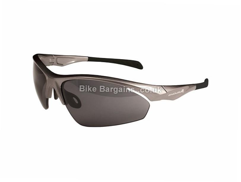 Endura Flint 3 Lens Cycling Sunglasses 3 Lens, Silver
