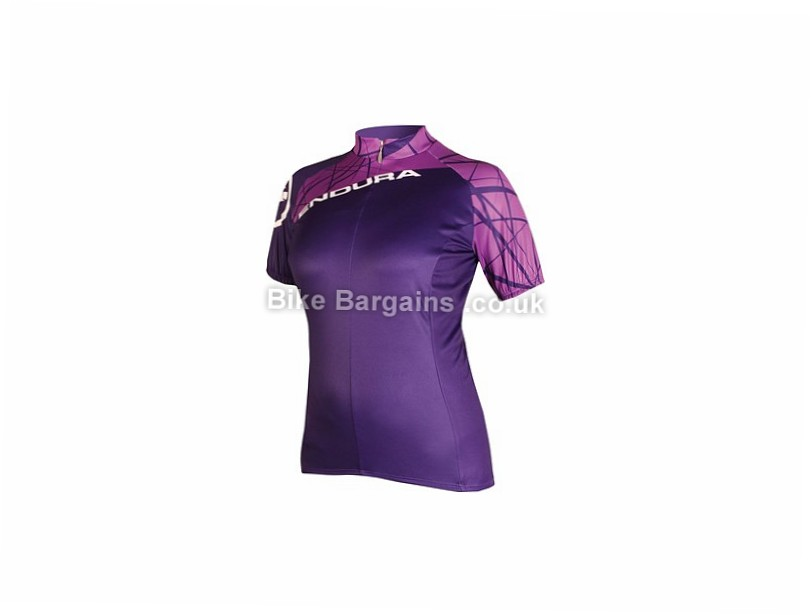 Endura Ladies SingleTrack Short Sleeve Cycling Jersey XS,S,M,L, Pink, Blue