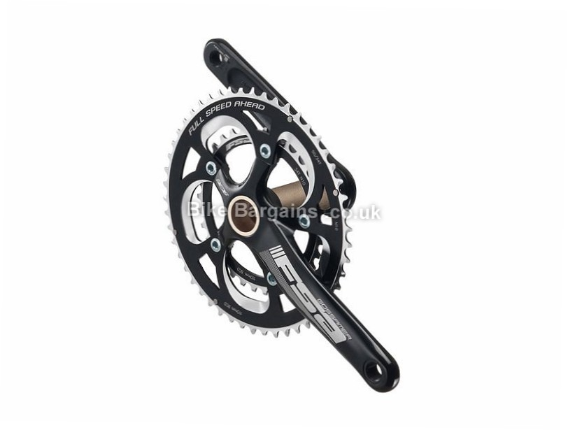 FSA Gossamer PRO Compact BB386 EVO Alloy Road Chainset 170mm - 172.5mm & 175mm are extra - Black,  10 Speed, 11 Speed, Alloy